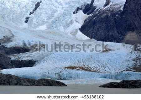 The glacier and the lake