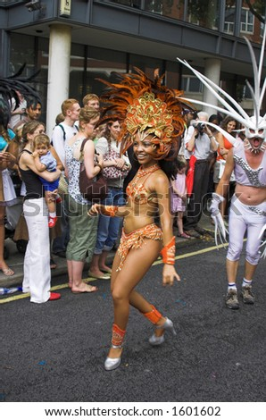 The glittering Brazilian carnival transforming the streets of Islington, London and immerse on-lookers in the sizzling atmosphere of Rio Carnival.