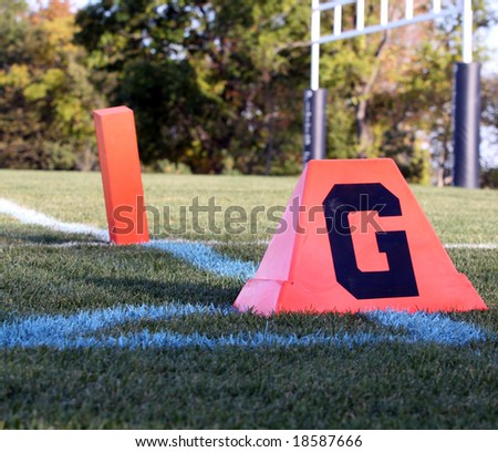 The goal line on an American football field