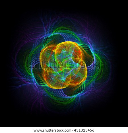 The God Particle, abstract illustration - stock photo