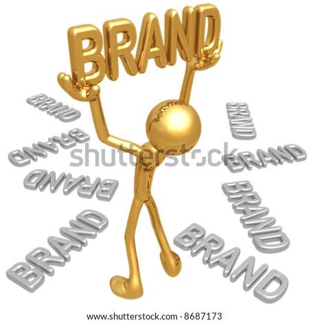 The Golden Brand - stock photo