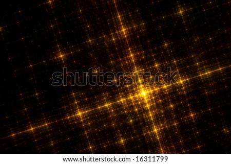 The Golden City - 3D Fractal Design - stock photo