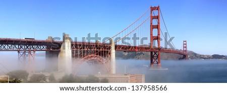 The golden gate bridge - stock photo