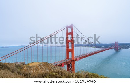 The Golden Gate Bridge from San Fancisco, perhaps is one of the most famous iconic American structures. Taken on 20/08/2016. Minor edits would be acceptable.