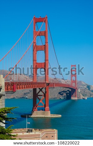 The Golden Gate Bridge in San Francisco, California, USA, Die Golden Gate Bridge in San Francisco, Kalifornien, USA