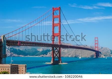 The Golden Gate Bridge in San Francisco, California, USA, Die Golden Gate Bridge in San Francisco, Kalifornien, USA - stock photo