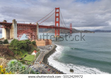 The Golden Gate Bridge on a beautiful day