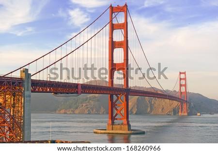 The Golden Gate Bridge, San Francisco, California, USA - stock photo
