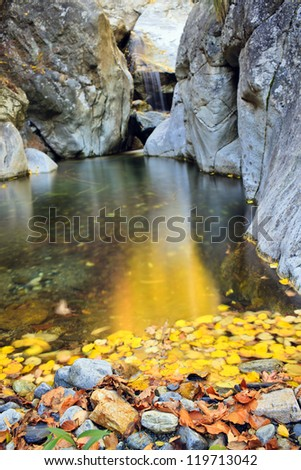 the golden river - stock photo
