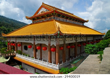 The Golden Temple at Kek Lok Si (Temple of Supreme Bliss), Penang - stock photo