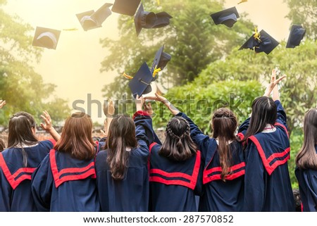 The graduation ceremony - stock photo