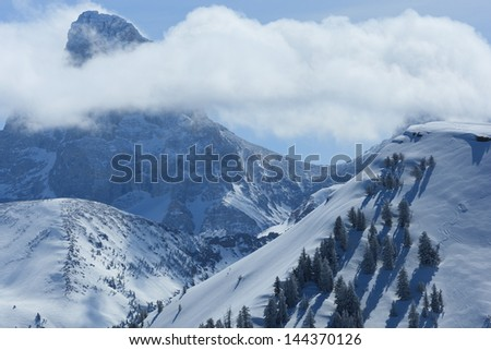 the grand and clouds - stock photo