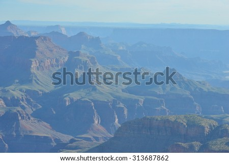 The Grand Canyon in Arizona in late summer - stock photo