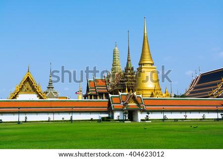 The Grand Palace at sunny day, Bangkok, Thailand.The Grand Palace , Bangkok , Thailand. - stock photo