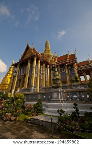 The grand palace in the Bangkok ,Thailand. - stock photo