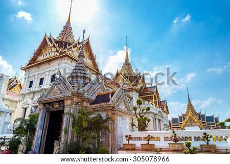 The Grand Palace of Thailand in Bangkok  - stock photo
