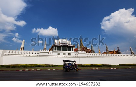 The grand palace with blue sky. - stock photo