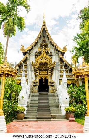 The Grand Vihara of Darabhirom Forest Monastery at Chiangmai Province, Thailand. - stock photo