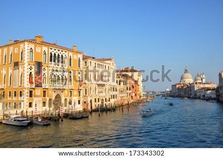 The grande canal in Venice - stock photo
