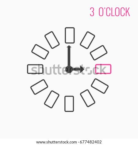 Graphic Design Time Icon Symbol 12 Stock Illustration 677482402