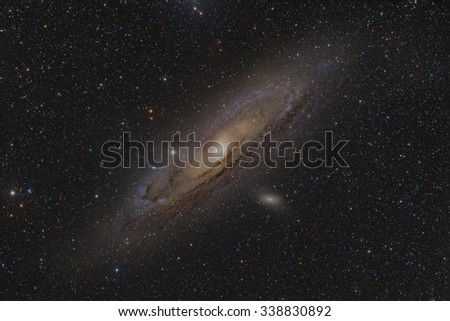 The Great Galaxy in Andromeda - stock photo