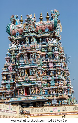 The Great Indian temple in Tamil Nadu