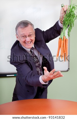 The great motivator dangling carrots - stock photo