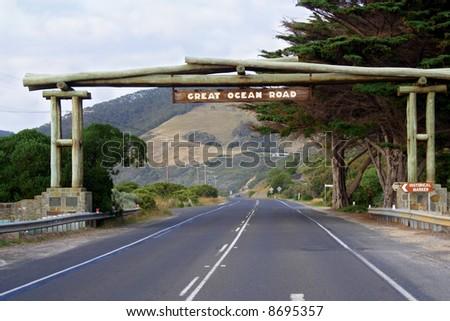 The great Ocean road Australia tourist destination - stock photo