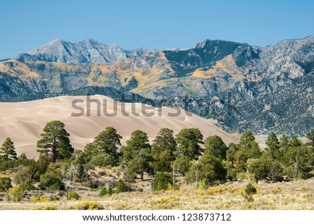 The Great Sand Dunes National Park, Colorado, USA - stock photo