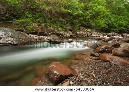 The great smoky mountains national park, little Pigeon  river