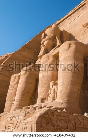 The Great Temple of Abu Simbel, Egypt - stock photo