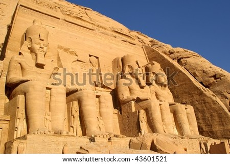 The great temple of ramses abu simbel egypt - stock photo