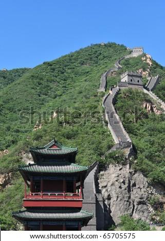the great  wall of china at Juyonguang. - stock photo