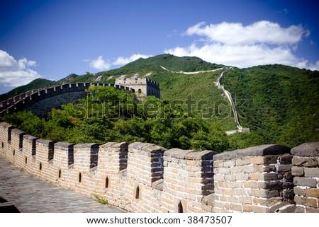 The Great Wall of China - mutianyu - stock photo