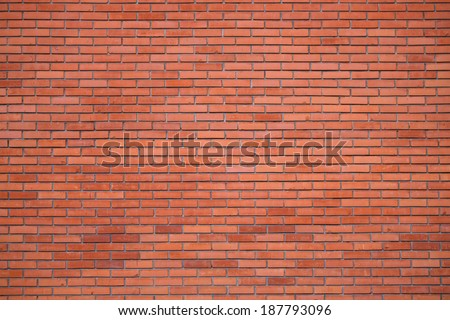 The Great Wall of red bricks - stock photo
