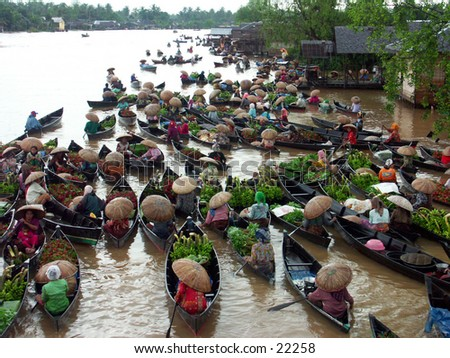 The greatest floating market at South Borneo (Kalimantan) Indonesia.