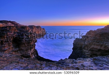 the grotto along great ocean road - stock photo