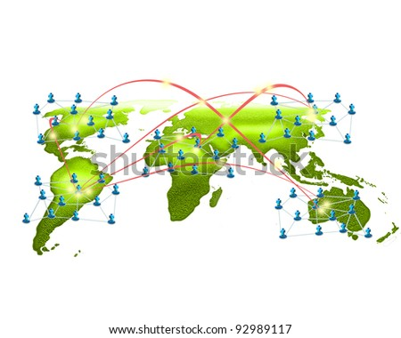 The growth of business networks. - stock photo