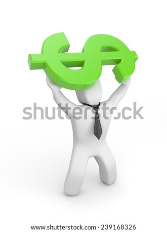 The growth of dollar - stock photo