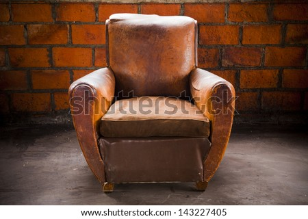 Grunge Old Armchair Top Hilight Over Stock Photo (Royalty Free) 143227405    Shutterstock
