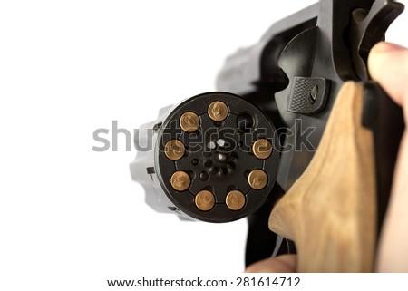 The gun barrel pneumatic - stock photo