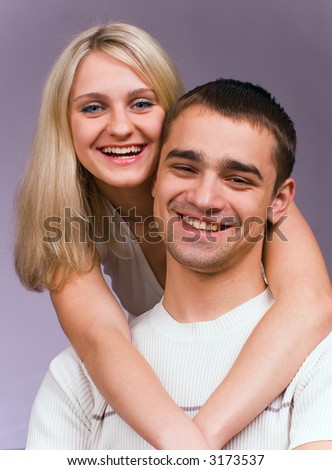 The guy and the girl - stock photo