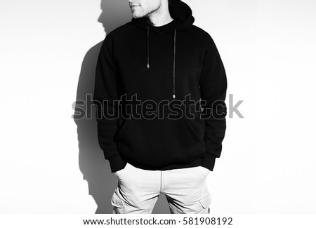 Black Hoodie Template Stock Images, Royalty-Free Images & Vectors