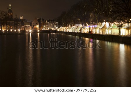 The Hague by night light