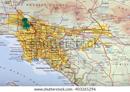 Highly Detailed Map United States Cities Stock Vector - Map of the us labeled los angeles
