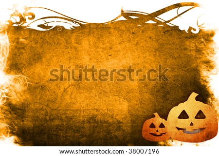 The Halloween abstract Background frame