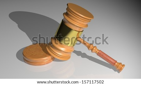 The hammer of the judge