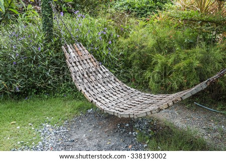 The hammock is designed to teach specific relaxation. Can swing There are many sizes to choose according to their convenience. Are used around the world - stock photo