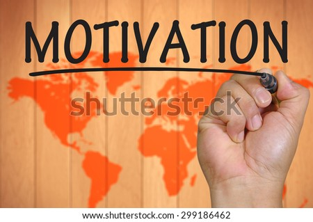 The hand writing motivation - stock photo