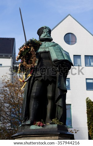 the Hanfried on the market in Jena - stock photo